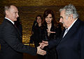 Cristina Fernández, Vladimir Putin y José Mujica en Argentina.jpg