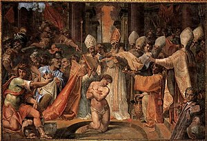 Cristoforo Roncalli - Image: Cristoforo Roncalli Pope Sylvester Baptizes Constantine WGA18063