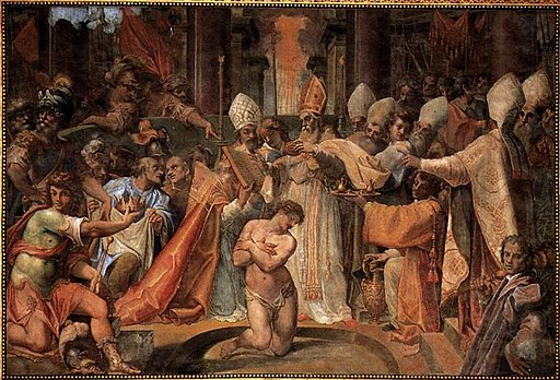 Cristoforo Roncalli - Pope Sylvester Baptizes Constantine - WGA18063