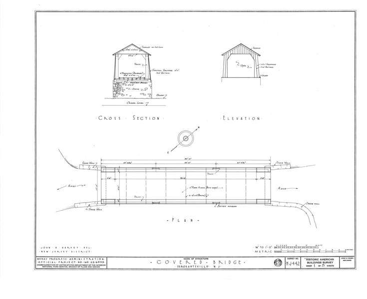 File cross section elevation plan covered bridge for Covered bridge design plans