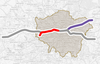 Map of the 2nd phase of Crossrail in 2018