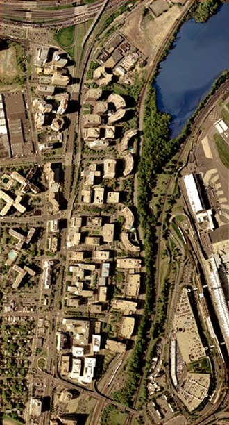 Crystal City, Arlington, Virginia - Image: Crystal City satellite image