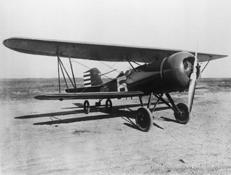 Curtiss P-1 Hawk - A Curtiss AT-5A with a J-5 radial engine and NACA cowling.