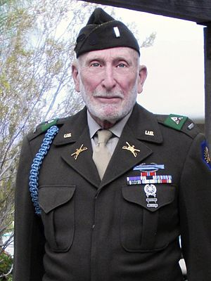 Donald Prell - Donald Prell wearing his WWII U.S. Army uniform in 2009