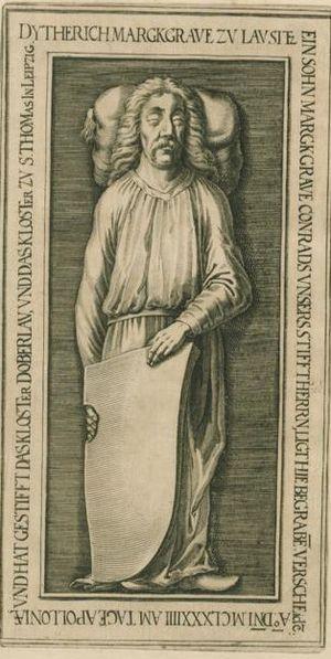 Theodoric I, Margrave of Lusatia - Image: D Etrich