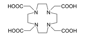 Actinium - Chemical structure of the DOTA carrier for 225Ac in radiation therapy.