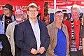 DSC02640 wir sind mehr Fulda 2018 (10) Ralf Stegner (SPD) und Michael Wahl (Direktkandidat von Die Linke im WK Fulda II in 2018 und auch 2009).jpg