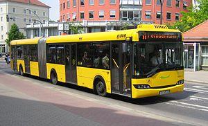 Low-floor bus Solaris Urbino 18 of the Dresden...