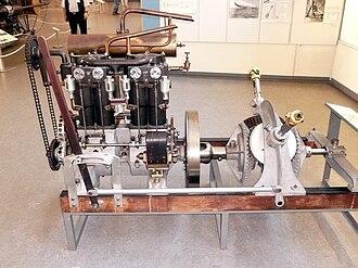 Zeppelin LZ 1 - One of LZ 1's Daimler NL-1 engines, preserved in the Deutsches Museum, Munich