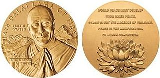 Awards and honors presented to the 14th Dalai Lama Wikipedia list article
