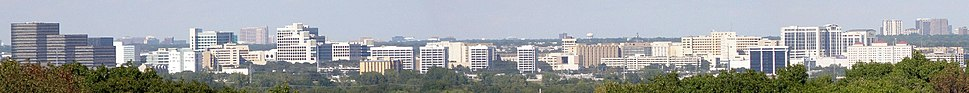 Panorama of the Dallas Medical District with UT Southwestern Medical Center