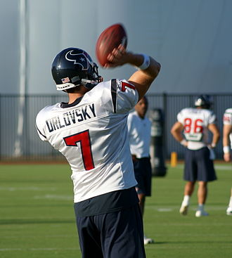 Dan Orlovsky - Orlovsky during his tenure with the Texans.