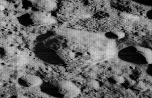 Dante (crater) - Oblique Lunar Orbiter 2 image