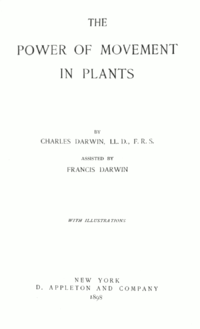 The Power of Movement in Plants cover