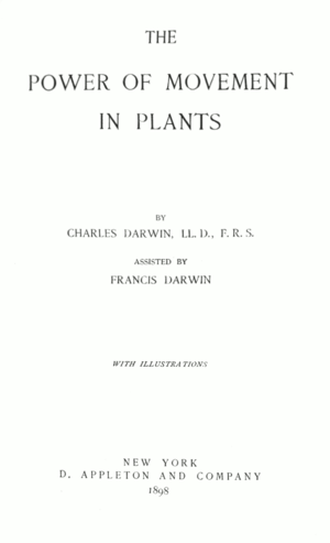 The Power of Movement in Plants - Image: Darwin Movement in Plants