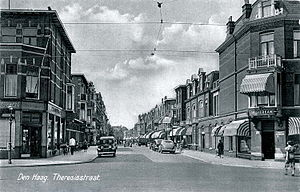 Bombing of the Bezuidenhout - The Theresiastraat in the Bezuidenhout before World War II