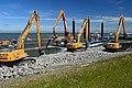 De Afsluitdijk. Deze foto Afdekken geotextiel. ID511367.jpg