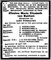 De Nieuwe Koerier vol 046 no 101 obituary Clasina Maria Elisabeth van Buchem.jpg