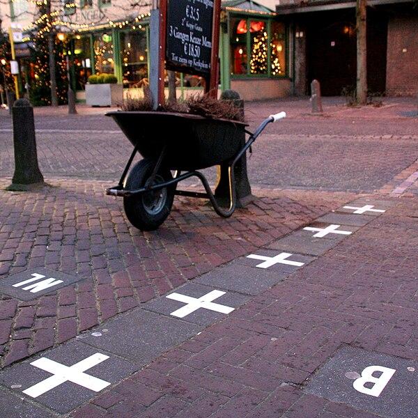 The Baarle border between Baarle-Nassau and Baarle-Hertog