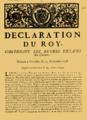 Declaration du Roy concernant les négres esclaves des colonies donnée à Versailles le 15 décembre 1738.png
