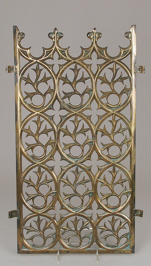 Decorative grill from the Palace of Westminster MET SF2015 593