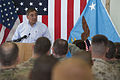 Defense.gov News Photo 120607-D-BW835-666 - Secretary of Defense Leon E. Panetta speaks with troops assigned to the International Security Assistance Force joint command in Kabul Afghanistan.jpg