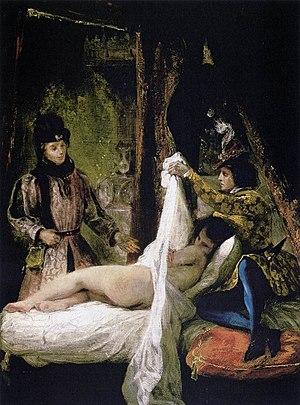 """Eugène Delacroix's 1825 painting """"Louis d..."""