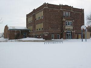 National Register of Historic Places listings in Douglas County, South Dakota - Image: Delmont Public School 1