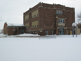 National Register of Historic Places listings in Douglas County, South Dakota - Image: Delmont Public School 1