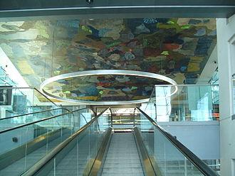 Per Kirkeby - Per Kirkeby's untitled fresco in the Black Diamond in Copenhagen
