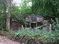 Derelict railway wagons, Cwm Farm, formerly used as farm buildings - geograph.org.uk - 1942556.jpg