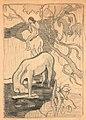 """Dessin original d'après """"Le Cheval blanc"""" de Paul Gauguin.jpg"""