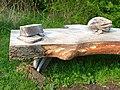Detail of bench in Wynyard Woodland Park - geograph.org.uk - 167316.jpg
