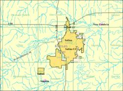 Detailed map of Salina, Kansas.png