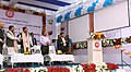 Dharmendra Pradhan and the Minister of State for Railways, Shri Rajen Gohain jointly dedicating the new building, entry point and reservation counter at Bhubaneswar railway station, in Odisha.jpg