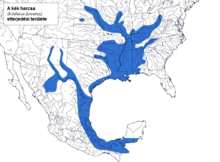 Distribution map of blue catfish.png blue catfish Blue Catfish - (Ictalurus furcatus) 220px Distribution map of blue catfish