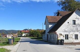 Dobrunje Place in Lower Carniola, Slovenia