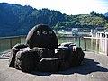 Dodairagawa Dam lake monument.jpg