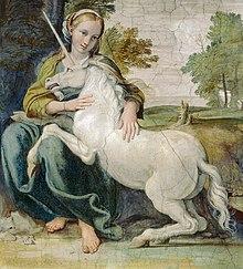 Le cheval dans les mythes et légendes dans CHEVAL 220px-Domenichounicorndetail
