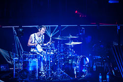 Dominic Howard of Muse at Air Canada Centre, Toronto on April 10, 2013 as part of The 2nd Law tour.jpg