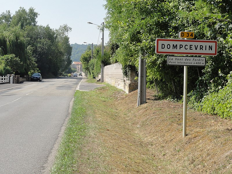 Dompcevrin (Meuse) city limit sign