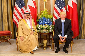 King Hamad bin Isa Al Khalifa meets U.S. President Donald Trump, May 2017 Donald Trump meets with King Hamed bin Issa of Bahrain, May 2017.jpg