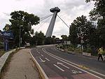 Donauradweg near Most SNP in Bratislava.jpg