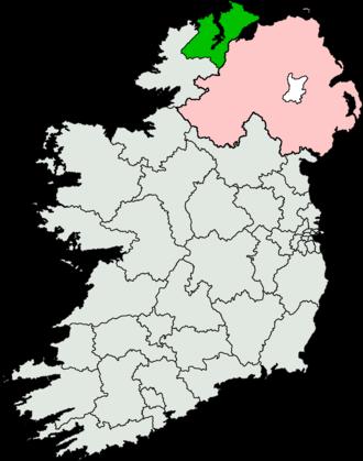 Donegal North-East (Dáil Éireann constituency) - Image: Donegal North East (Dáil Éireann constituency)