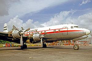 LANICA - LANICA Douglas DC-6B at Miami International Airport in October 1970