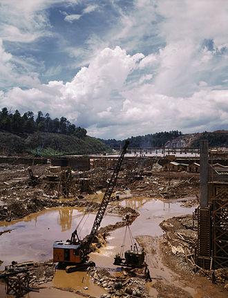 Douglas Dam - Douglas Dam during construction.