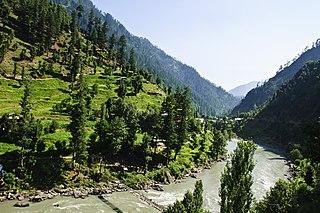 Dowarian Village in Azad Kashmir, Pakistan