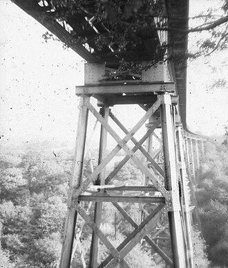 Halesowen Railway - Image: Dowery Dell Viaduct