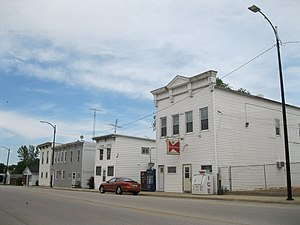 Pearl City, Illinois - Business district in Pearl City