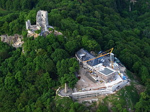Drachenfels (Siebengebirge) - Drachenfels - Aerial view